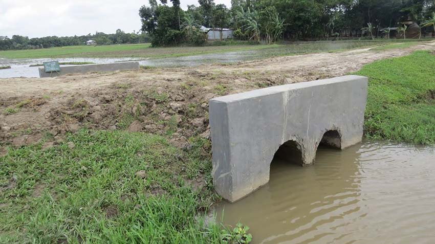 A culvert constructed under the community-based development activities of ENRICH