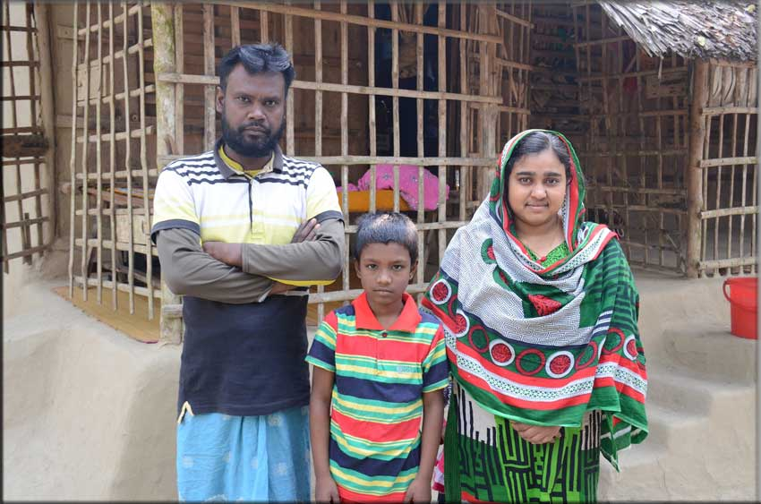 Munira with her husband and son